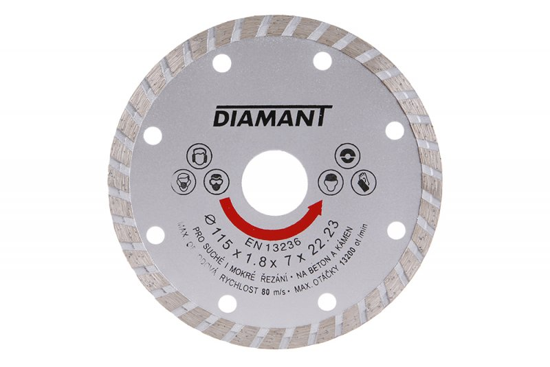 Kotouč diamantový DIAMANT 115x22. 2x2. 5mm TURBO