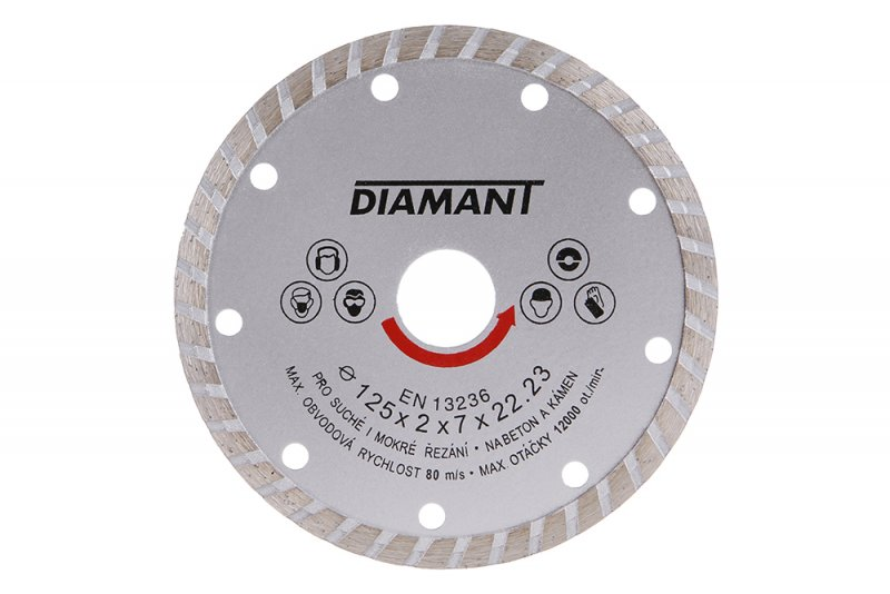 Kotouč diamantový DIAMANT 125x22. 2x2. 5mm TURBO
