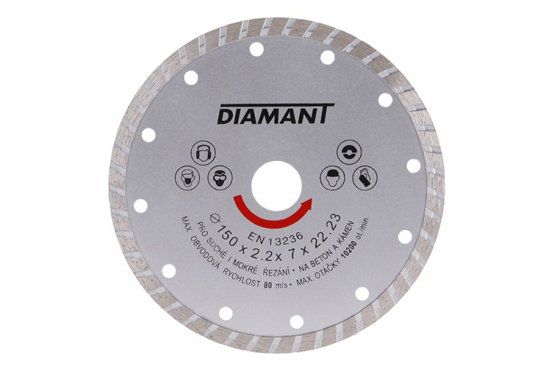 Kotouč diamantový DIAMANT 150x22. 2x3. 1mm TURBO