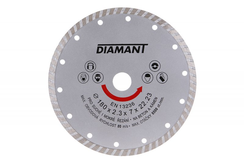 Kotouč diamantový DIAMANT 180x22. 2x3. 1mm TURBO