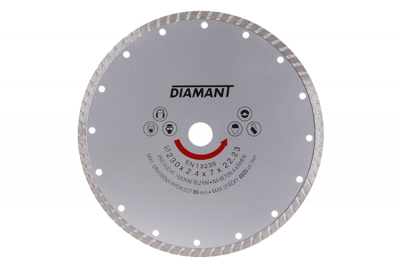 Kotouč diamantový DIAMANT 230x22. 2x3. 1mm TURBO